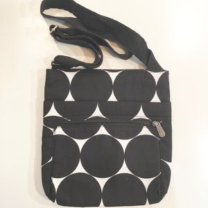 Brand New Thirty-One B/W Organizing Crossbody Bag
